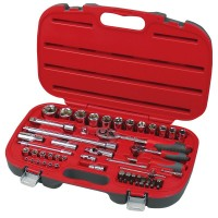 """Trusa tubulare 1/2"""" si 1/4"""", 4 - 32 mm, 55 piese/set"""