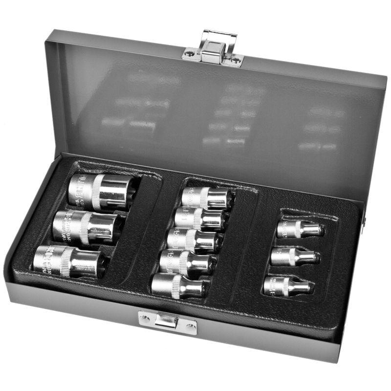 Trusa tubulare trx E4 - E 20 cu adaptoare Proline, 11 piese/set 2021 shopu.ro