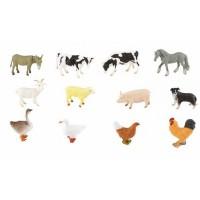 Tub figurine Animale de la ferma Collecta, 12 piese