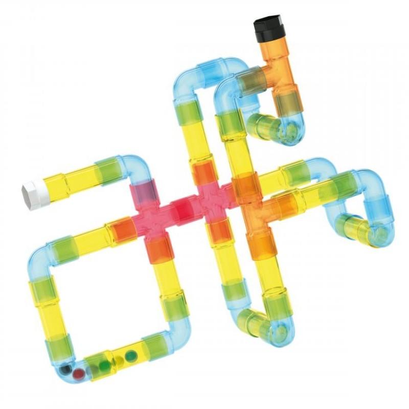Joc de constructie Tubation Maze Quercetti, 36 piese, 4 ani+