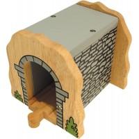 Tunel din lemn BigJigs, 13 x 17 x 13 cm, 3 ani+