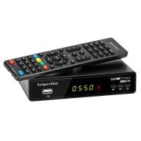 Tuner DVB-T Kruger Matz, afisaj LED, functie temporizator, telecomanda