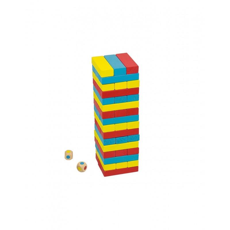 Turnuletul culorilor Andreu Toys, lemn, 2-4 jucatori, 3 ani+