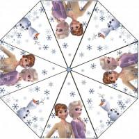 Umbrela transparenta pentru copii Frozen 2 SunCity, 76 cm, PVC, Multicolor