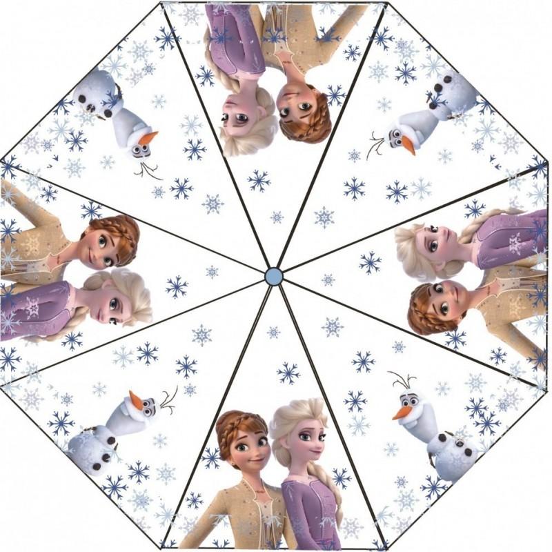Umbrela transparenta pentru copii Frozen 2 SunCity, 76 cm, PVC, Multicolor 2021 shopu.ro