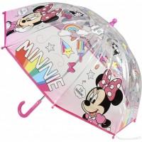 Umbrela transparenta pentru copii Minnie SunCity, 66 cm, PVC, Multicolor