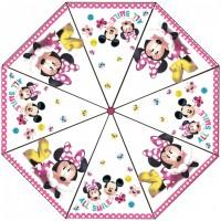 Umbrela transparenta pentru copii Minnie SunCity, 76 cm, PVC, Multicolor