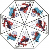 Umbrela transparenta pentru copii Spiderman SunCity, 76 cm, PVC, Multicolor