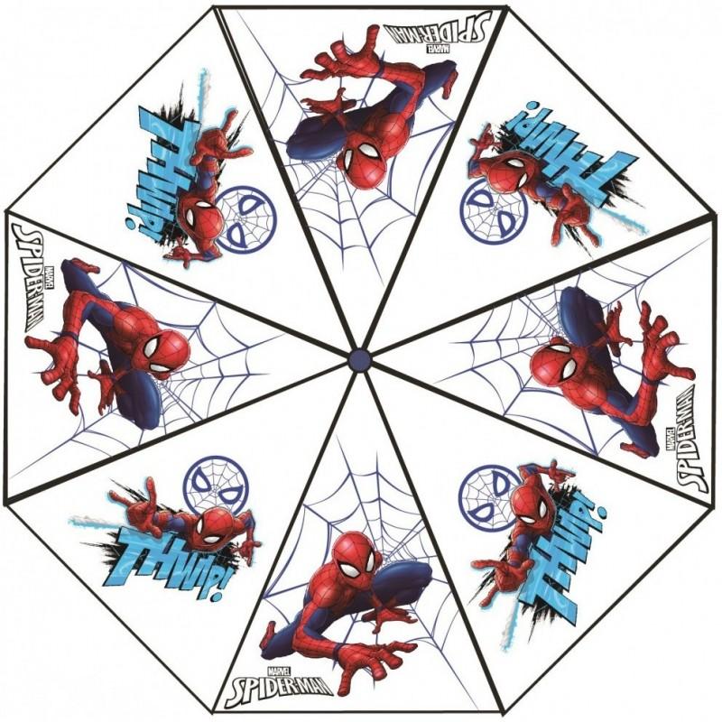 Umbrela transparenta pentru copii Spiderman SunCity, 76 cm, PVC, Multicolor 2021 shopu.ro
