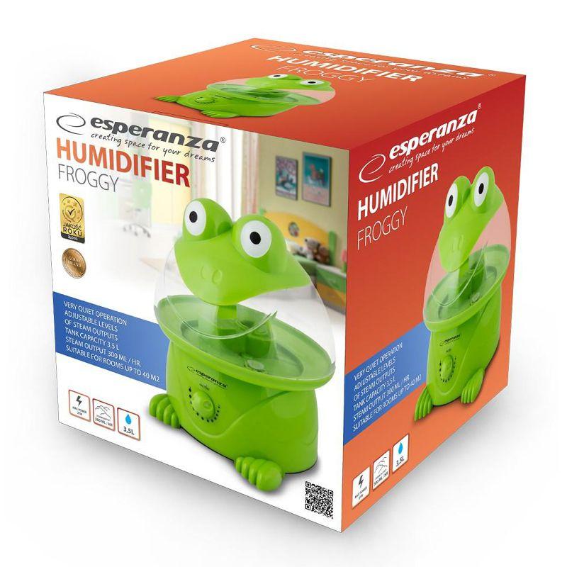 Umidificator de aer Esperanza Frog, 3.5 l, 25 W, Verde