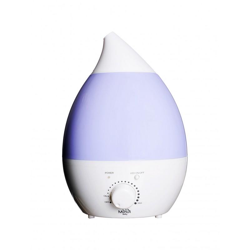 Umidificator ultrasunete cu ionizare, lampa de veghe si aromoterapie Minut Baby, 2.8 l 2021 shopu.ro