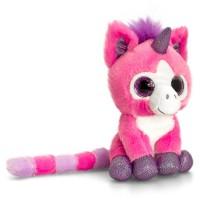 Unicorn de plus cu ochi stralucitori Keel Toys, 14 cm, Roz, 1 an+