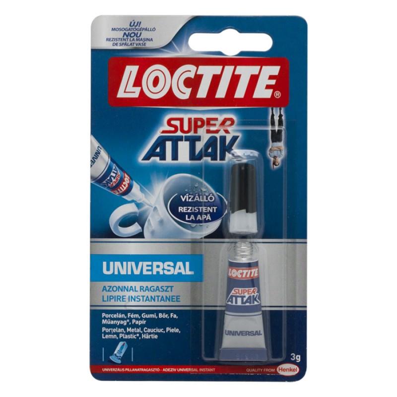 Super glue universal Loctite, 3 g, rezistent la apa, fara solventi shopu.ro