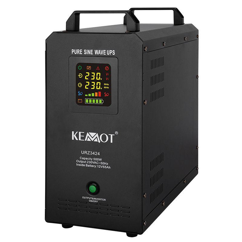 UPS Kemot pentru centrale termice, sinus pur, 500 W, Accu 55 AH, 12 V shopu.ro