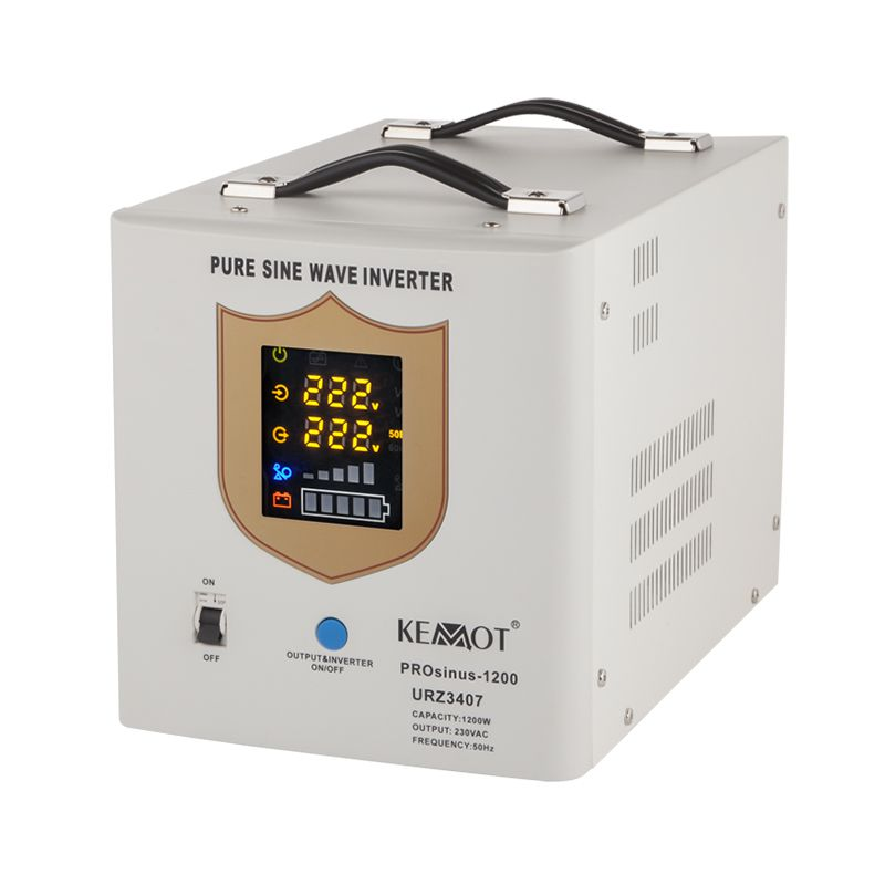 UPS cu sinus pur Kemot, 12 V, 1200 W, curent incarcare 10 A, Alb 2021 shopu.ro
