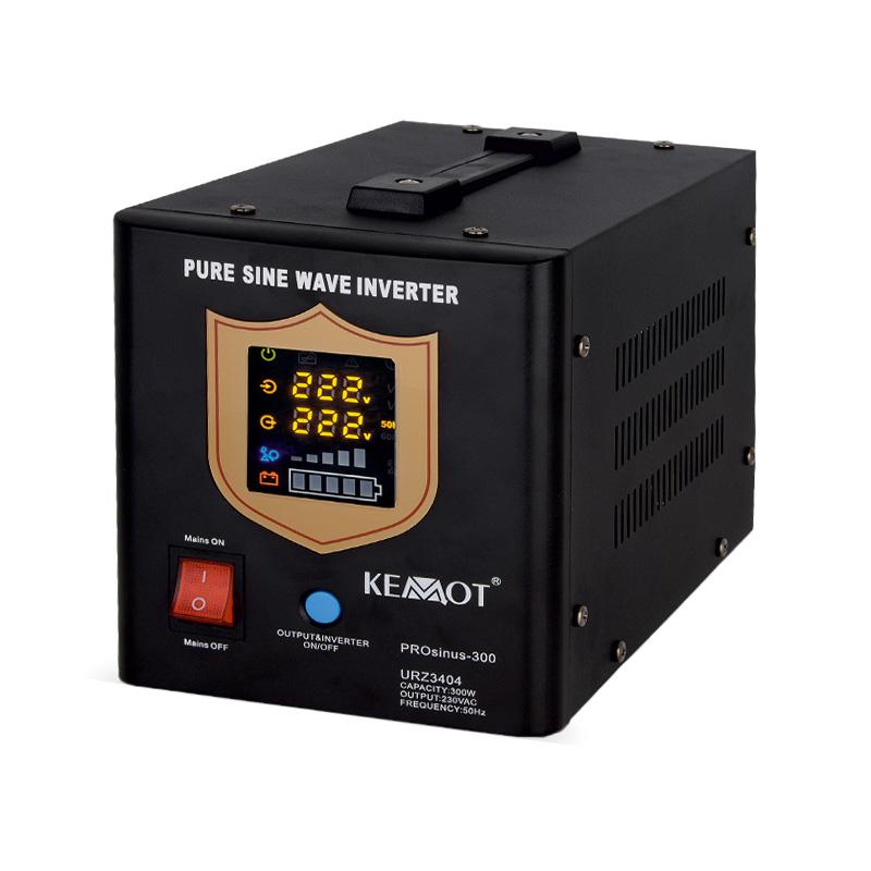UPS cu sinus pur Kemot, 12 V, 300 W, incarcare 10 A, timp comutare 4 ms shopu.ro