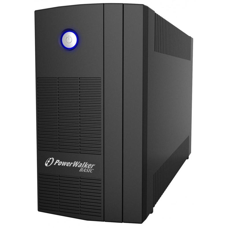 UPS line interactiv Powerwalker, 3 x Shuko, baterie 2 x 12 V / 5 Ah, 1000 VA, 600 W shopu.ro