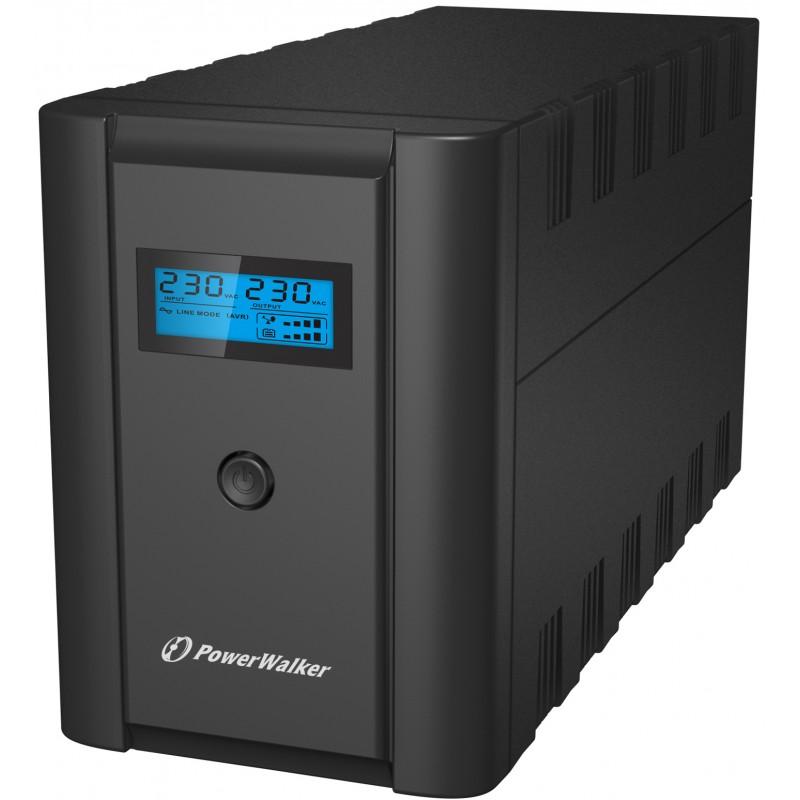 UPS line interactiv Powerwalker, 2 x Shuko, baterie 2 x 12 V / 7 Ah, 1200 VA, 600 W shopu.ro