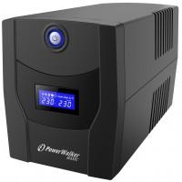 UPS line interactiv Powerwalker, afisaj LCD, 4 x Schuko, baterie 2 x 12 V / 7.2 Ah, 1500 VA, 900 W