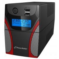 UPS line interactiv PowerWalker, 650VA/360W, iesire 2 x Shuko