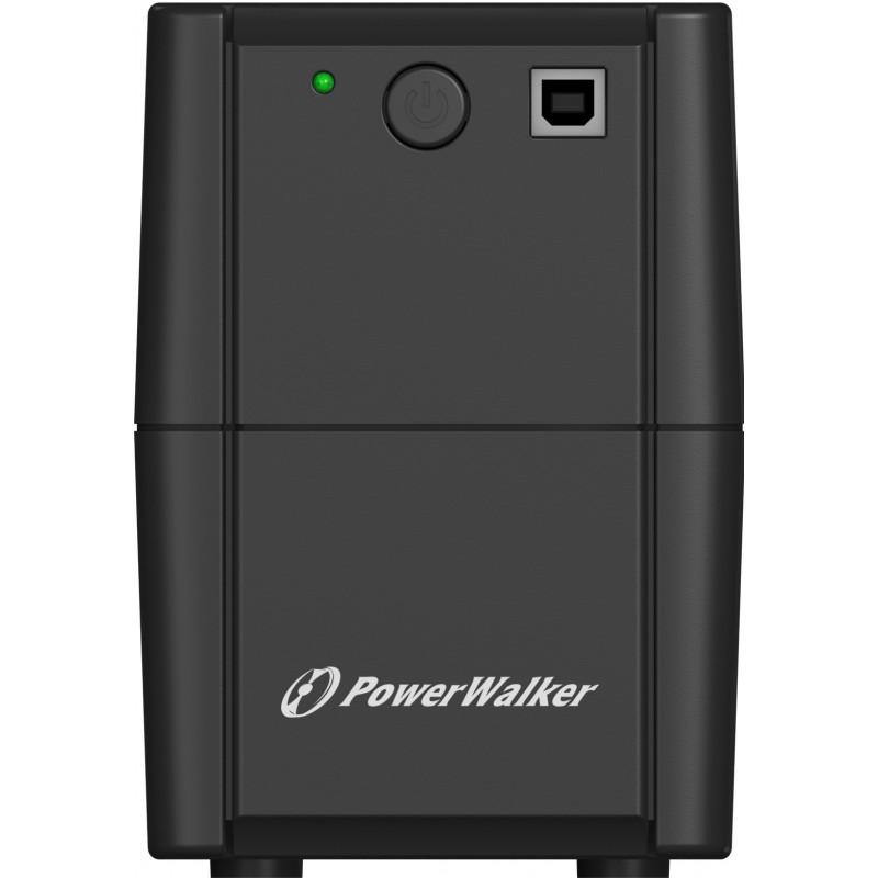 UPS line interactiv PowerWalker, 850VA/480W, iesire 2 x Shuko, baterie 12V/9Ah shopu.ro