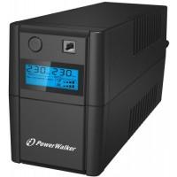 UPS line interactiv Powerwalker, USB, 2 x Shuko, baterie 12 V / 9 Ah, 850 VA, 480 W