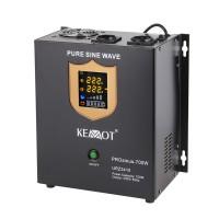 UPS perete centrale termice Kemot cu sinus pur, 12 V / 700 W