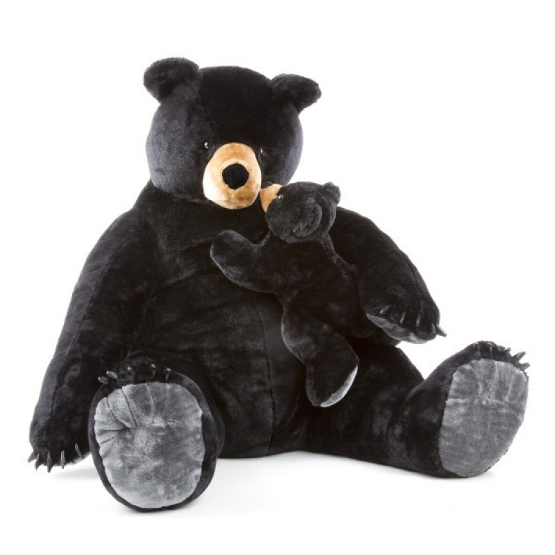 Urs negru gigant din plus Melissa and Doug, 3 ani+ 2021 shopu.ro