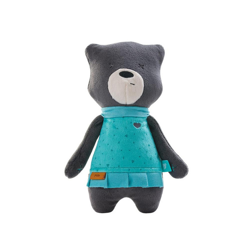 Ursulet Mia Premium myHummy, senzor somn, negru 2021 shopu.ro