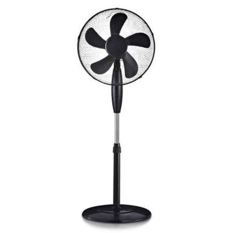 Ventilator cu picior, 55 W, 125 cm, 5 pale, Negru