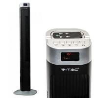 Ventilator tip turn, 55 W, 120 cm, 3 viteze, display, telecomanda, Negru