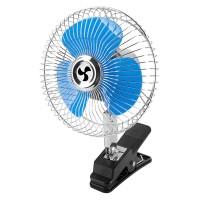 Ventilator auto Peiying, 24 V, 15.6 W, 15 cm, Albastru