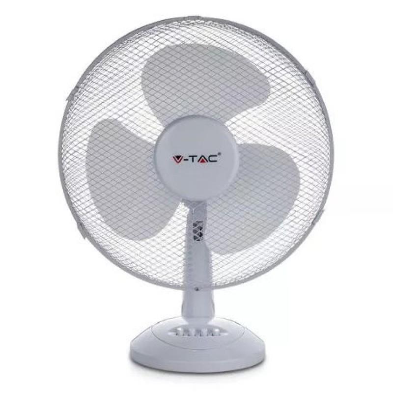Ventilator de birou V-Tac, 40 W, 3 pale, diametru 300 mm 2021 shopu.ro