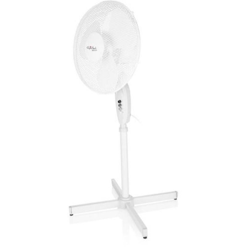 Ventilator cu picior Gallet, 45 W, 40 cm, 3 viteze, oscilatie, cablu 1.5 m, Alb 2021 shopu.ro