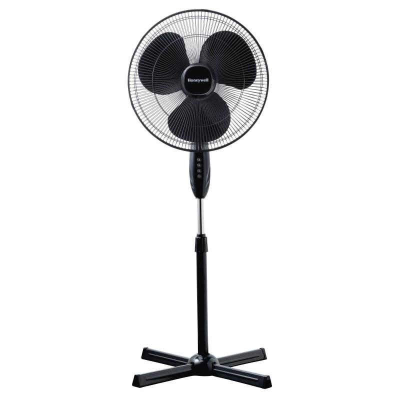 Ventilator cu picior Honeywell, 110-122 cm, 3 viteze, inaltime reglabila, Negru 2021 shopu.ro