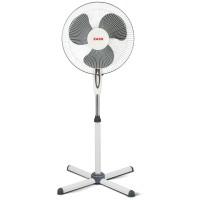 Ventilator cu picior Zass 45 W, 3 viteze, motor silentios, Alb