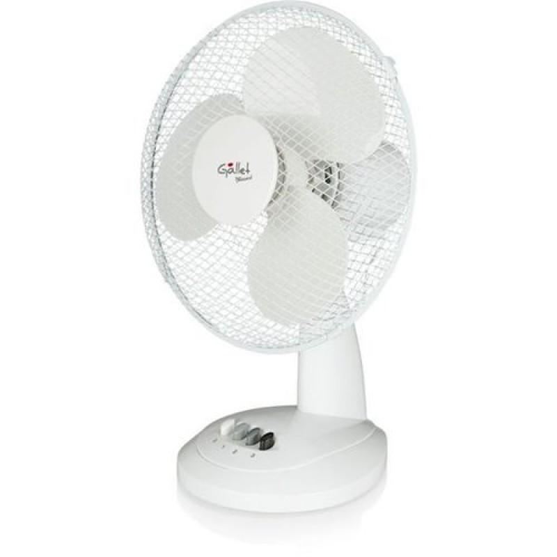 Ventilator cu picior Gallet, 35 W, 30 cm, 3 viteze, oscilatie, cablu 1.5 m, Alb 2021 shopu.ro