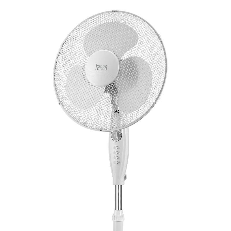 Ventilator picior cu timer Teesa, 45 W, 3 viteze, inaltime reglabila 2021 shopu.ro