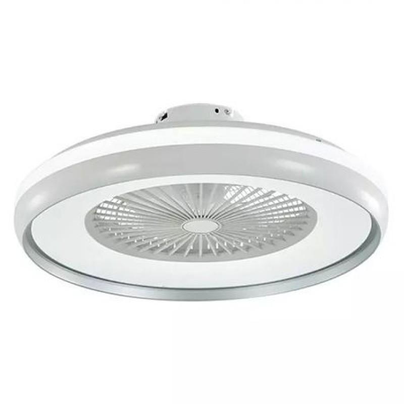 Ventilator tavan cu iluminare 3 in 1 V-Tac, 45 W, telecomanda, Alb 2021 shopu.ro