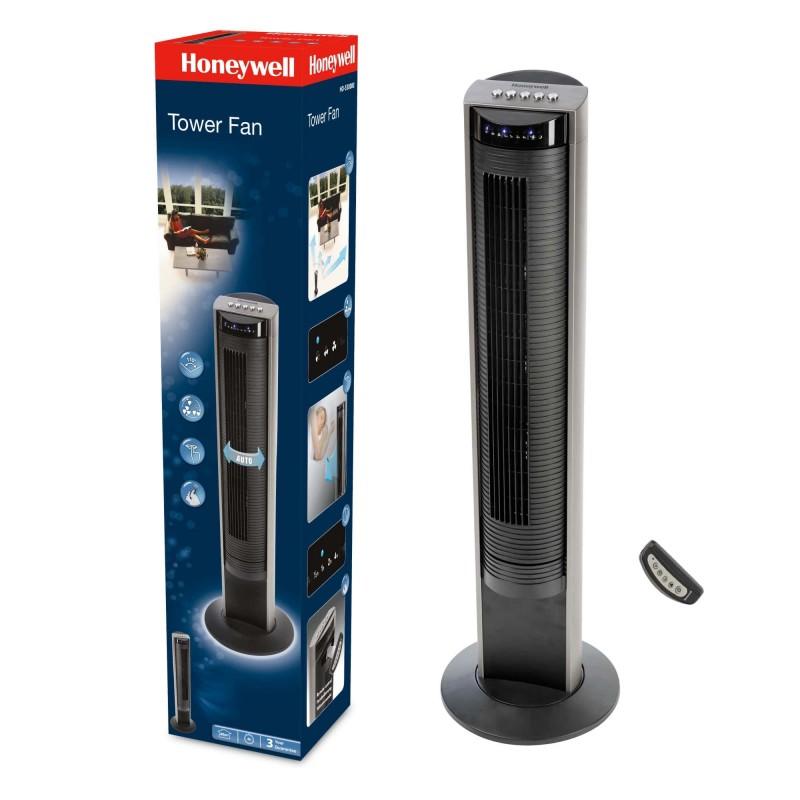 Ventilator turn Honeywell, 103.6 cm, 3 viteze, panou control, afisaj LED, timer 1-4 ore, zgomot redus, Negru 2021 shopu.ro