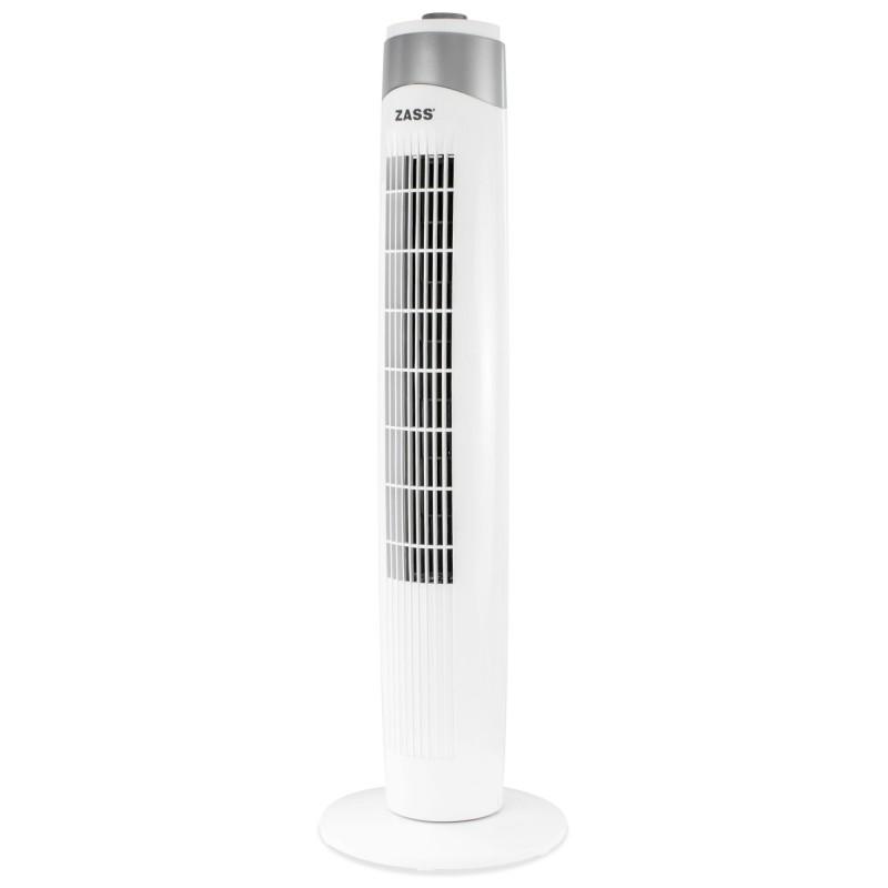 Ventilator turn Zass ZTF 01, 55 W, 3 viteze, 90 cm, functie oscilare, Alb 2021 shopu.ro