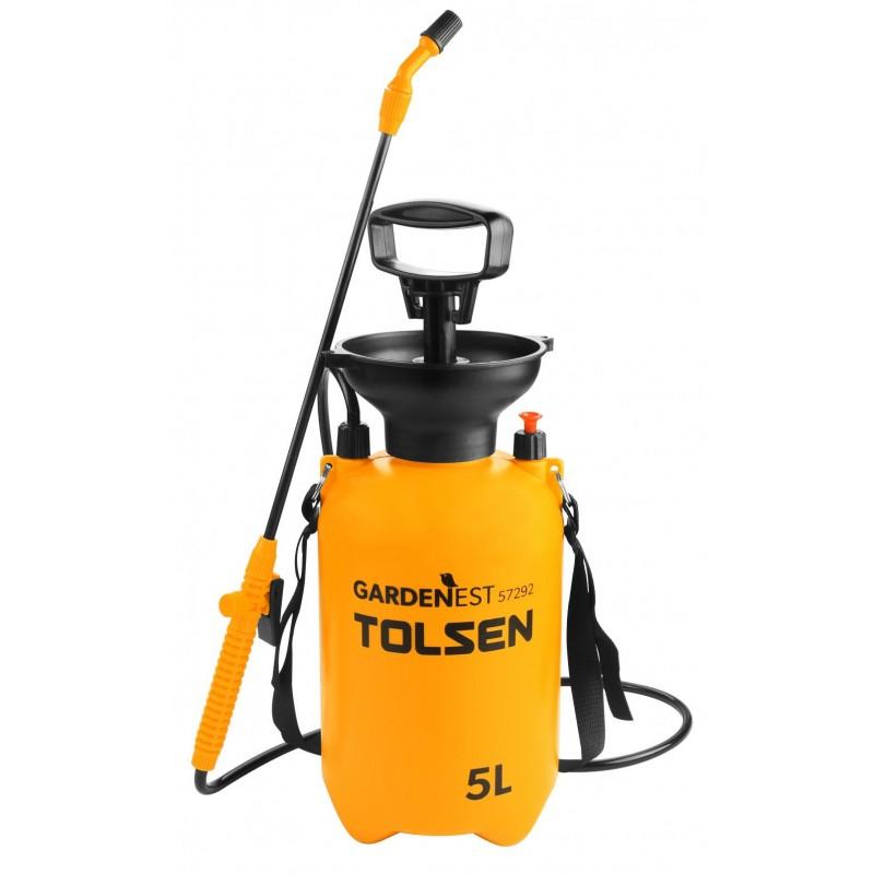 Vermorel cilindric portabil Tolsen, 5 l, curea de sustinere 2021 shopu.ro