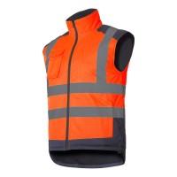Vesta reflectorizanta captusita Lahti Pro, 6 buzunare, marimea XL, portocaliu