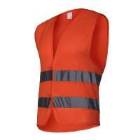 Vesta reflectorizanta tip plasa Lahti Pro, marimea M, portocaliu