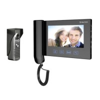 Videointerfon Cabletech, ecran LCD, 7 inch, 16 melodii, rezolutie CCD, 429 linii TV, cablu 15 m