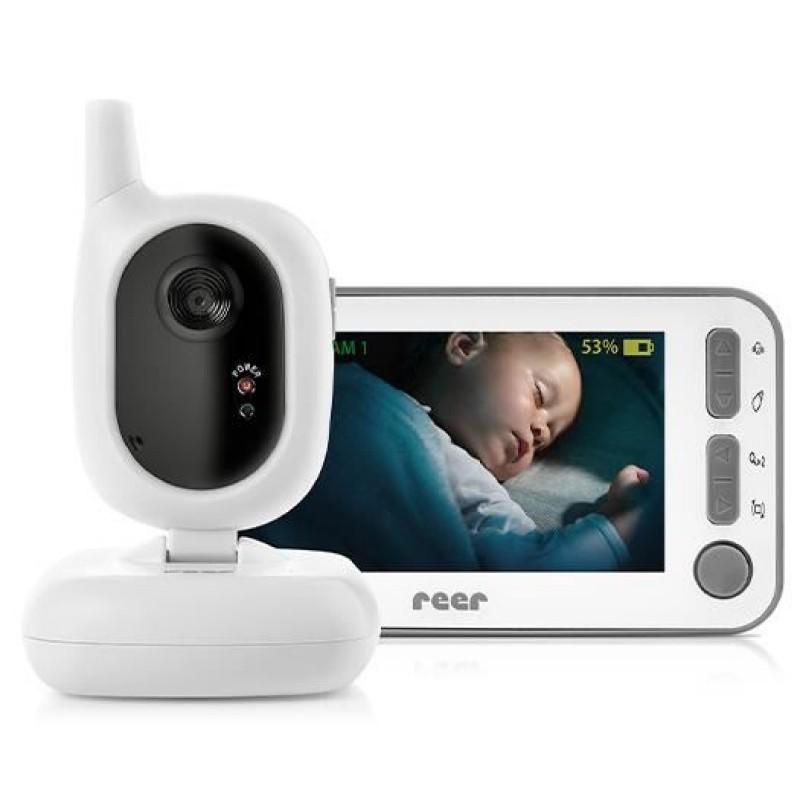 Video monitor Digital BabyCam Reer, ecran color 4.3 inch, functie VOX, Wi Fi
