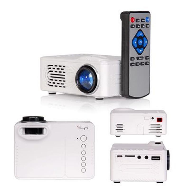 Videoproiector portabil, 320 x 240, 30 lumeni, acumulator 1000 mAh, ecran LCD 2021 shopu.ro