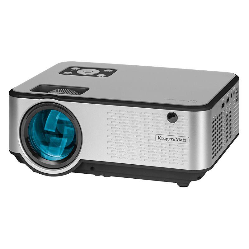 Videoproiector LED Home Kruger&Matz, 1920 x 1080 px, 2800 lm, Wi-Fi, panou LCD, oprire automata, telecomanda inclusa 2021 shopu.ro