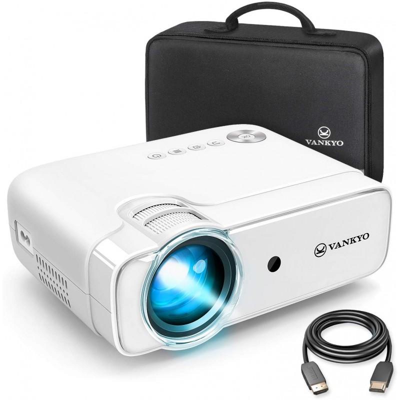 Videoproiector Vankyo Leisure, 4000 lm, 1080p, LED, HDMI, SD, AV, VGA, USB, geanta transport, telecomanda 2021 shopu.ro