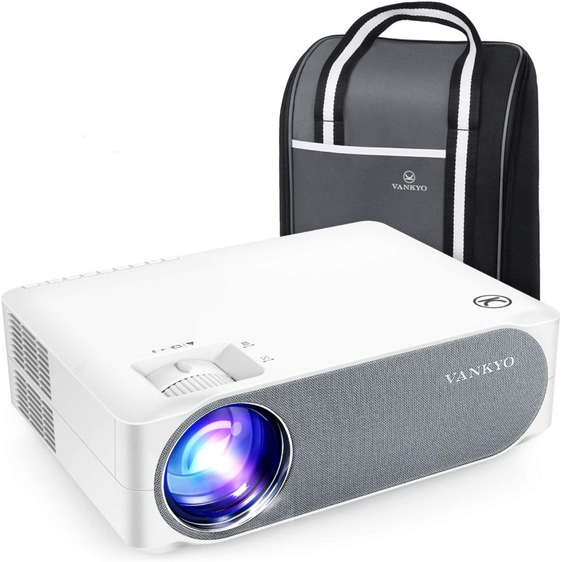 Videoproiector VANKYO Performance V630, 6000 lm, 1080p, LED, HDMI, VGA, AV, USB, geanta transport, telecomanda 2021 shopu.ro